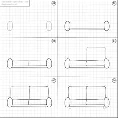 How to draw a couch.