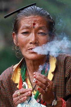 Striking moment of Smoking - Traveler Photo Contest 2014