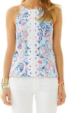Lilly Pulitzer Annabelle Top in Shell Me All About It
