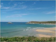 Crantock Bay in Cornwall. My favourite beach in England and possibly the world. Memories of many happy childhood holidays.