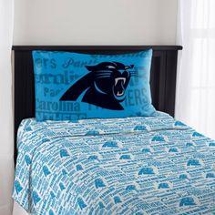 NFL Carolina Panthers Anthem Sheet Set, Multicolor