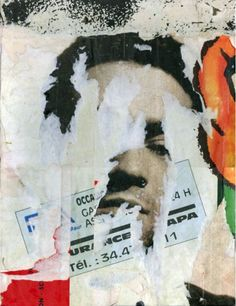 Jacques Villeglé is a French mixed-media artist famous for his alphabet with symbolic letters and collage with ripped or lacerated posters. Collages, Collage Art, Photomontage, Appropriation Art, Street Art, Art Nouveau, Photoshop Projects, Encaustic Painting, Gcse Art