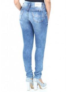 Jeans push-up brasiliani Sawary vita medio-bassa  con Swaroski