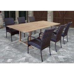 Wicker & Wood Patio Set Amazon - $1446