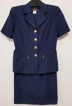Virgo - Women's Skirt Suit - Size 8 - Blue Short Sleeve Blazer & Straight Skirt Lined #Virgo #SkirtSuit ..... Visit all of our online locations.....  www.stores.eBay.com/variety-on-a-budget .....  www.stores.ebay.com/ourfamilygeneralstore .....  www.etsy.com/shop/VarietyonaBudget .....  www.bonanza.com/booths/VarietyonaBudget .....  www.facebook.com/VarietyonaBudgetOnlineShopping
