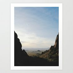 Palm Sunset Canyon Art Print by Kevin Russ - $16.00