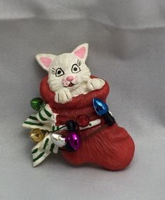 Vintage Cat In Christmas Stocking Collectible Brooch   Jewelry & Watches, Vintage & Antique Jewelry, Costume   eBay!