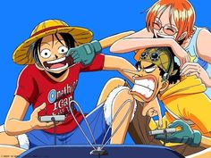 Luffy, Usopp and Nami <3