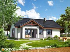 Dom w leszczynowcach (T) Bungalow House Design, Cottage Homes, Home Decor Kitchen, Home Fashion, Future House, Gazebo, House Plans, Exterior, Outdoor Structures