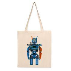 Bolso de tela Chappie. Bolso de algodón con diseño del artista Tierra. Compra miles de productos originales en Señor Cool.