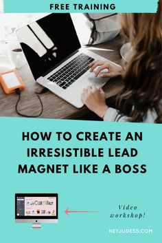 How to create an irresistible lead magnet like a boss Email Marketing, Marketing And Advertising, Business Marketing, Content Marketing, Affiliate Marketing, How To Start A Blog, How To Make Money, Lead Magnet, Planning