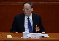Wang Qishan, the Party's disciplinary czar, at a political meeting in Beijing on March 5. Wang is said to be behind the push against Guo Wengui's business dealings. (Wang Zhao/AFP/Getty Images)