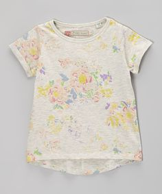 Take a look at this Oatmeal Blossom Tee - Girls on zulily today!