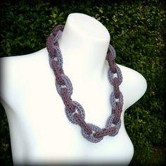Chain Link Crochet Necklace - free pattern