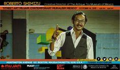 El Director de Arte del MUJAM dio una conferencia en la universidad MASSART en Boston, sobre EL MURALISMO CONTEMPORÁNEO EN MÉXICO.