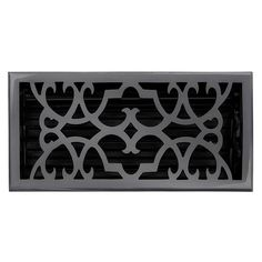 "This dark bronze finish solid brass floor register heat vent cover with a victorian scroll design fits 6"" x 12"" x 2"" duct openings and adds the perfect accent to your home decor."