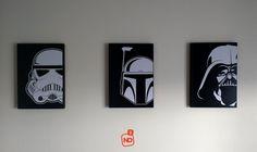 Título: Conjunto Star Wars. Disponível no tamanho: 20x29x1,5 cm. Dúvidas, encomendas e sugestões; para +55 (41) 997.011.914 ou www.instagram.com/artenoquadrado