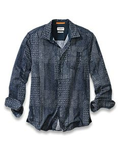 Island Modern Fit Indigo Crush Shirt