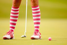 Might have to try this look on the course...am I too old for funky knee socks? - not at all. :-)
