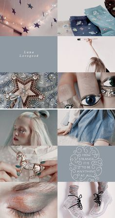 Luna Lovegood: THE GIRL GAVE OFF AN AURA OF DISTINCT DOTTINESS. PERHAPS IT WAS THE FACT THAT SHE HAD STUCK HER WAND BEHIND HER LEFT EAR FOR SAFEKEEPING, OR THAT SHE HAD CHOSEN TO WEAR A NECKLACE OF BUTTERBEER CAPS, OR THAT SHE WAS READING A MAGAZINE UPSIDE DOWN   #hp