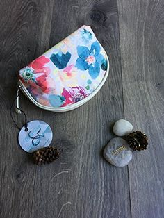 Amazon.com: ConciseCharming Fashion Floral Printed Pouch / Elegant Cosmetics Bag / Water repellent Compact Travel Storage Organizer Travel Purse /Portable Makeup Clutch /Toiletry Bag (Floral Printed White): Home & Kitchen