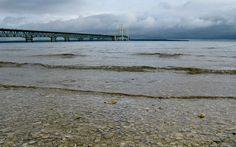 The Mackinac Bridge, gateway to the Upper Peninsula.