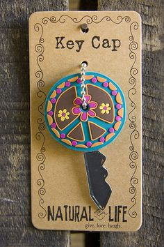 Peace Sign Key Cap From Natural Life