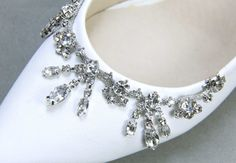 A Pair Of Crystal Shoe ClipsRhinestone Shoe by BlingGarden on Etsy