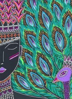 Peacock Goddess Art Print