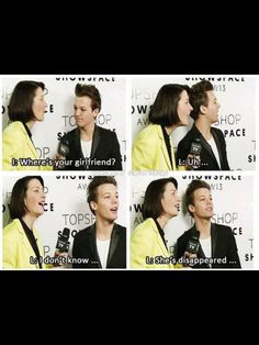 In this interview, the lady asked Louis where Eleanor was to see if she could meet her. Do you guys just realize that if Lou hadn't lost El we could have heard her voice clearly!