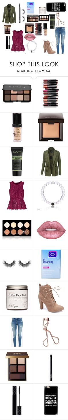 """""""um..."""" by emjamison ❤ liked on Polyvore featuring Trish McEvoy, NARS Cosmetics, City Color, Laura Mercier, NYX, LE3NO, Oscar de la Renta, Clean & Clear, Wild Diva and Ted Baker"""