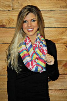 Colorful Infinity Scarf with Crosses!