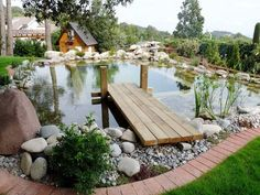 backyard designs – Gardening Ideas, Tips & Techniques Swimming Pool Pond, Natural Swimming Ponds, Swimming Pool Landscaping, Natural Pond, Ponds Backyard, Pool Decks, Garden Pond Design, Luxury Pools, Small Pools