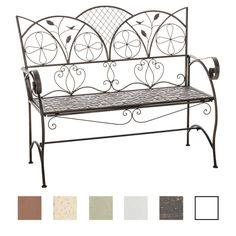 CLP Romantica panchina da giardino RIEF, rustica, in metallo laccato, 106 x 51 cm, fino a 6 colori a scelta bronzo: Amazon.it: Giardino e giardinaggio