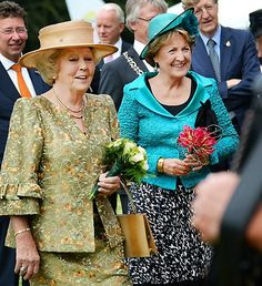 Princess Beatrix and Princess Margriet, June 14, 2014 | Royal Hats.....Dutch Princesses Attend Grand Defile