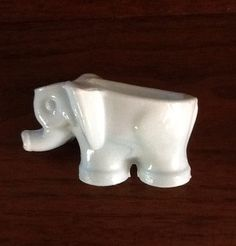 Milk Glass Elephant, Pipe Holder on Etsy, $14.00