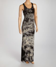 Green & Black Tie-Dye Maxi Dress   something special every day