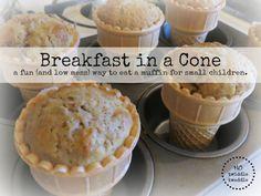 Breakfast in a cone! Fun muffin recipe kids will love