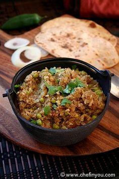 Kheema recipe with Cauliflower. (Indian Gobi Keema)