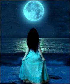 Blue moon, power, energy, GODDESS.