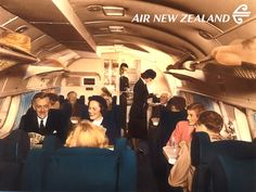 Upper deck of a Short Solent 2 flying boat for Air New Zealand, the… Aircraft Interiors, Float Plane, Plane Design, Air New Zealand, Boat Interior, Flying Boat, Jet Engine, Commercial Aircraft, Civil Aviation