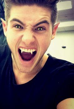 Cody Christian as werewolf