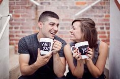 over coffee engagement