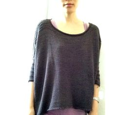My Boxy sweater. Pattern by Joji Locatelli. Yarn is Wollmeise Pure 'Im Jahr der Ratte'