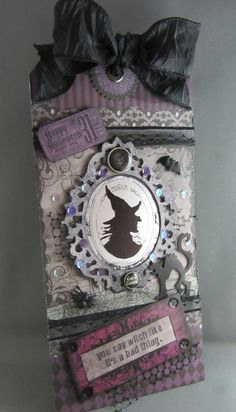 Scraps From A Broad: Witchy Tag and Halloween Cards