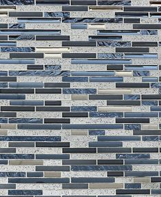 Let this blue & gray subway interlocking mosaic tile to shine on your bathroom accent wall or kitchen backsplash.