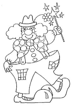 clown with batons star coloring pages for kids printable acrobats coloring pages for kids