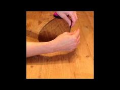 Sinamay Circle With Rolled Edge - YouTube