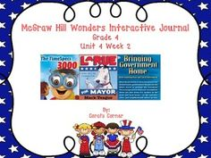 This 4th grade interactive journal is aligned to Common Core and to the McGraw Hill Wonders series for Unit 4 -Week 2. This highly INTERACTIVE journal is ideal for teaching all of this week's skills in a powerful, student-friendly way!
