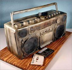 Applexlogos: Cake-Design, Boombox.